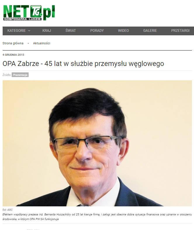 OPA Zabrze - 45 lat w służbie przemysłu węglowego