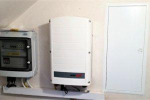 Instalacja fotowoltaiczna o mocy 5,55kWp - rozdzielnica oraz falownik Solaredge SE6K WiFi